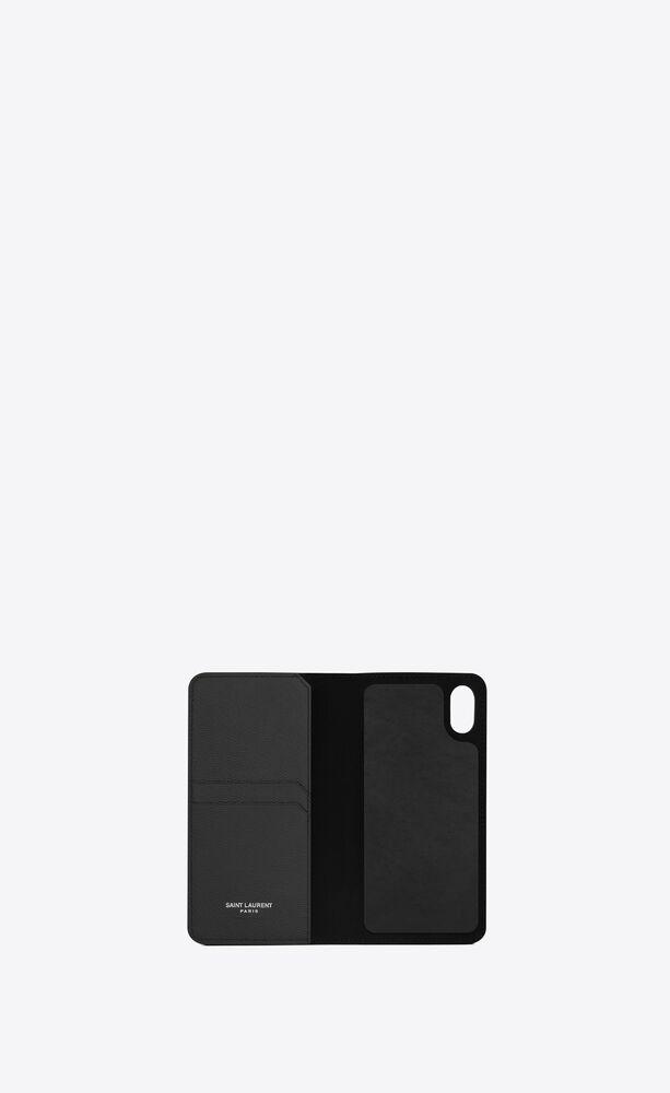 monogram iphone x case in grain de poudre embossed leather