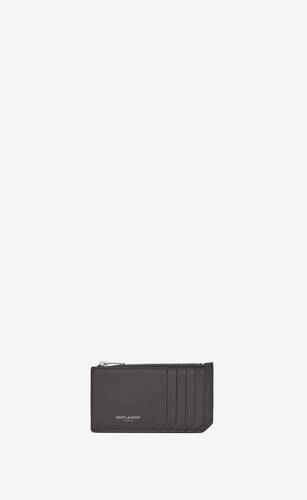 fragments zipped card case in matte leather