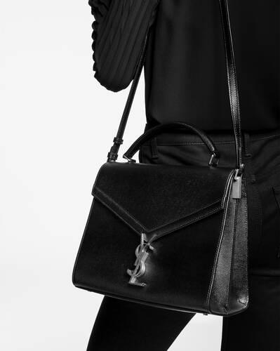 cassandra top handle medium bag in grain de poudre embossed leather