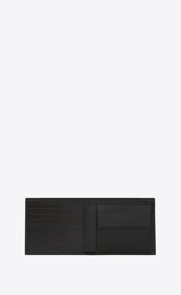 east/west wallet with coin purse in crocodile embossed leather