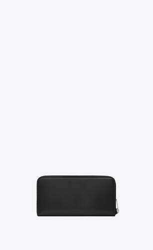 monogram zip-around wallet in box saint laurent leather