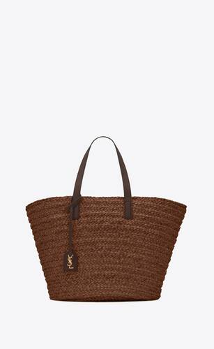 panier medium bag in raffia