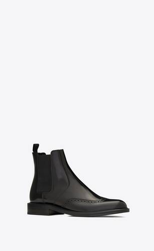 army chelsea boots in smooth leather