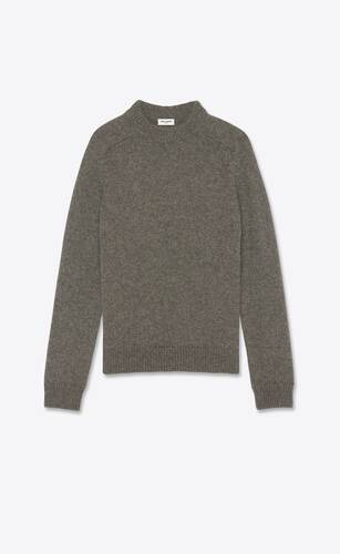 jersey con cuello redondo de lana