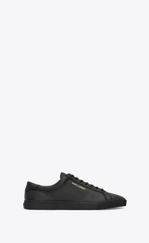 sneakers basse andy in pelle nera