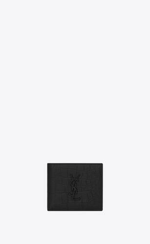 cartera monograma east/west de piel repujada de cocodrilo