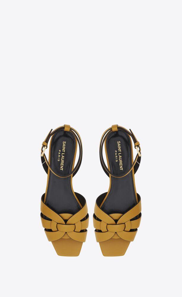 sandali flat tribute in pelle liscia