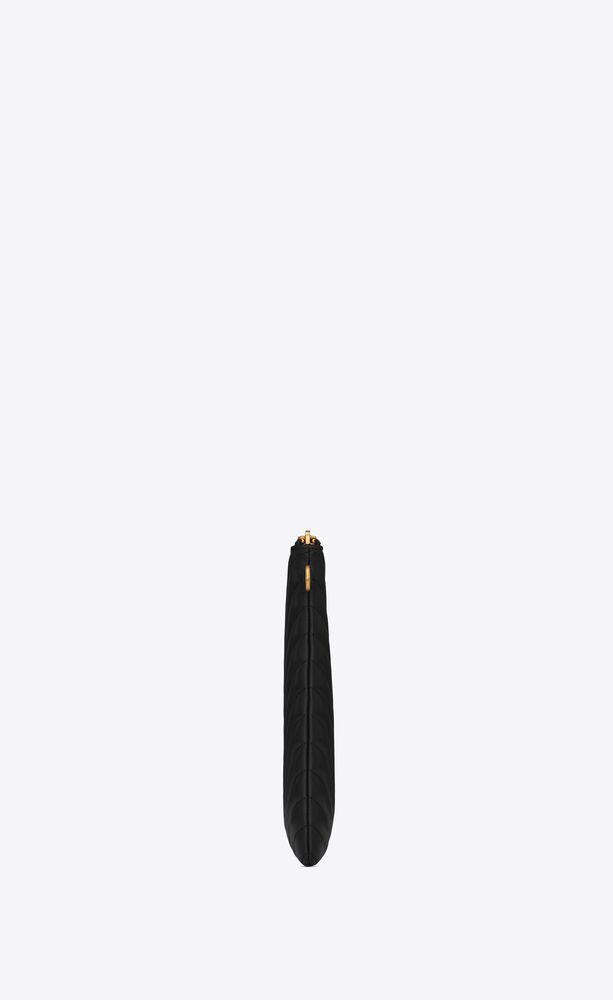 monogram pochette pour tablette en cuir matelassé