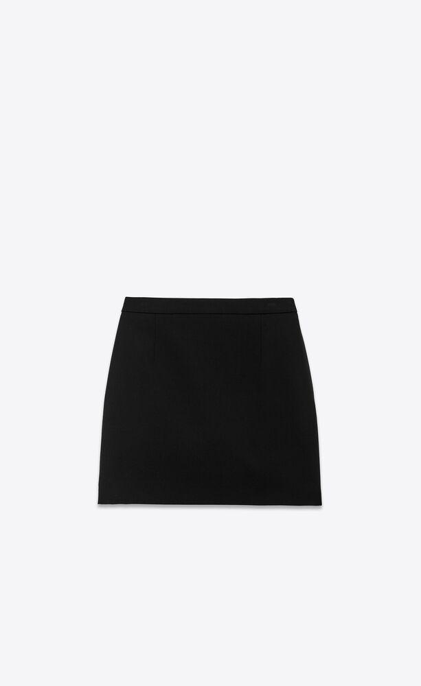 mini skirt in gabardine saint laurent