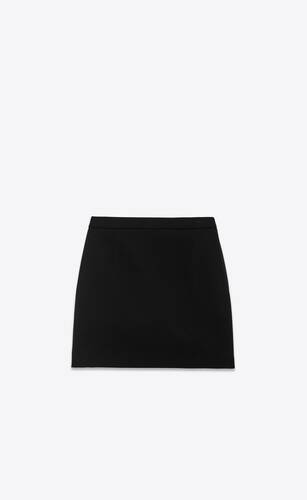 mini skirt in gabardine saint laurent