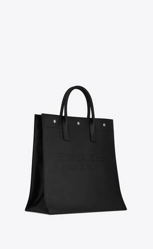 rive gauche north/south tote bag in smooth leather