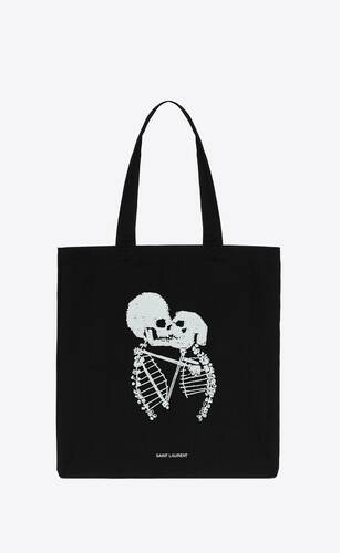 skeleton print totebag