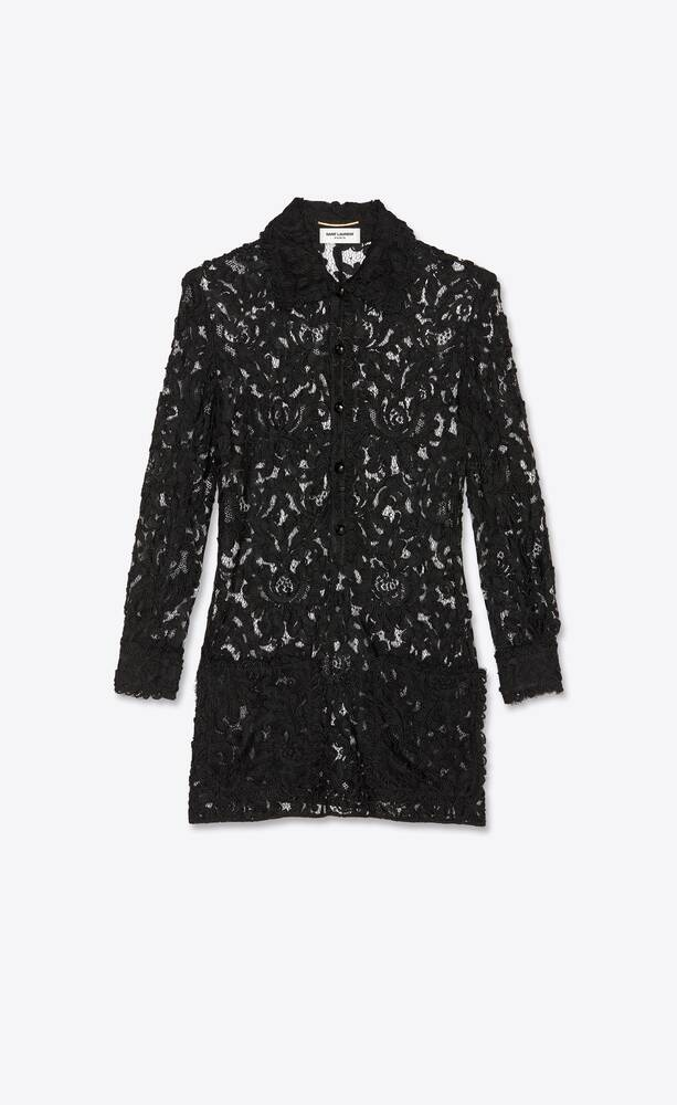 corded lace shirt dress