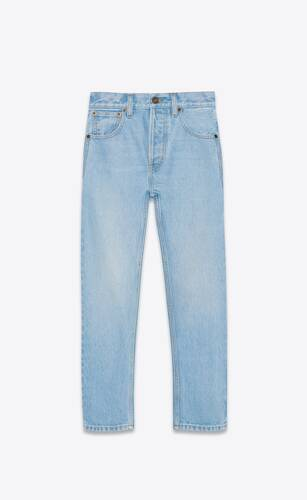 authentic jeans in basic blue denim