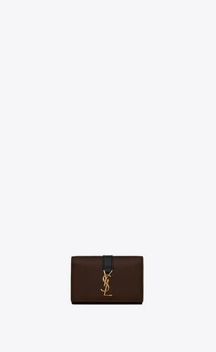 ysl line key case in smooth leather