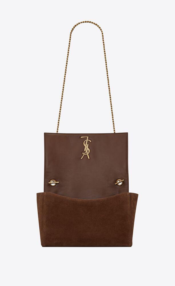 kate medium reversible bag with rope monogram in suede