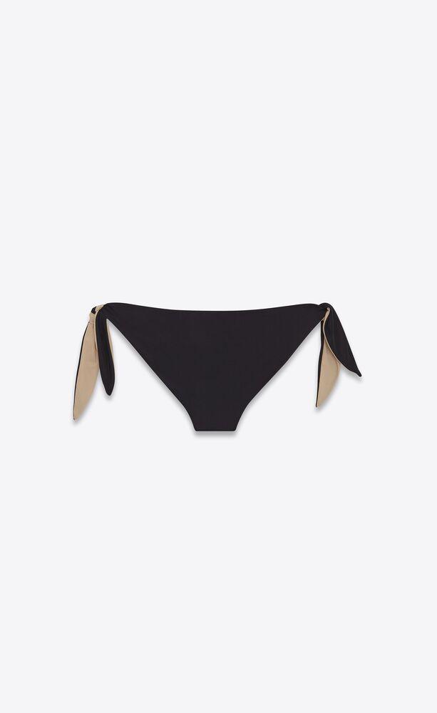 parte de abajo de bikini con nudo de punto