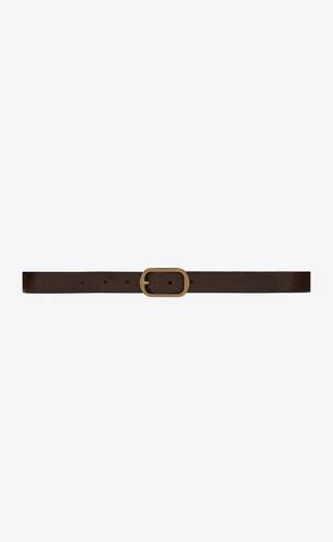 can buckle belt in crackled leather