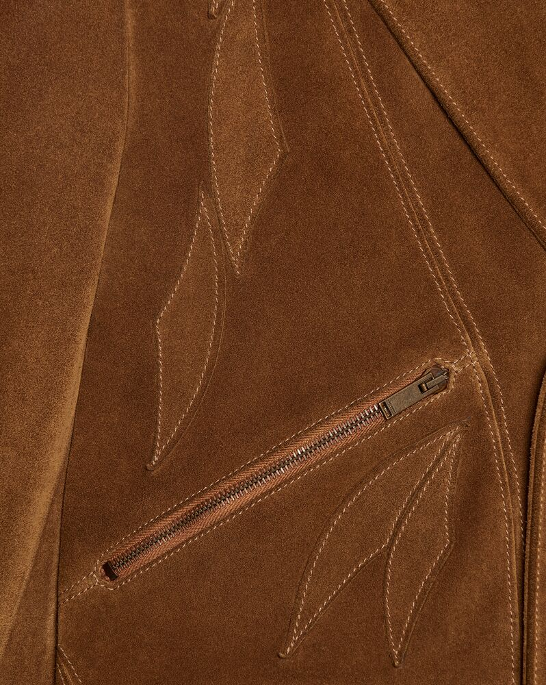leaf jacket in vintage suede