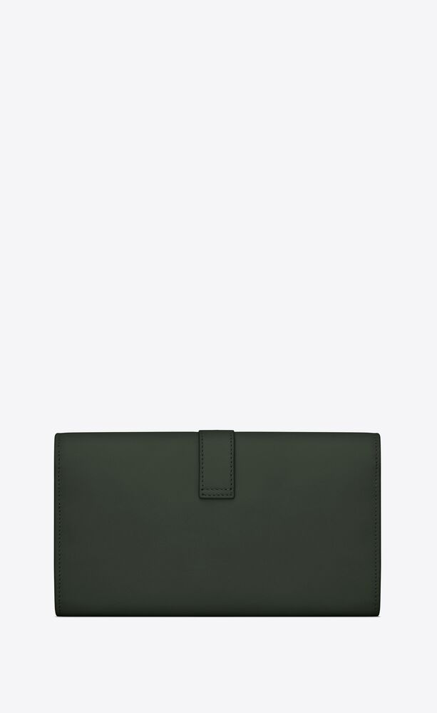 ysl line large flap wallet in smooth leather