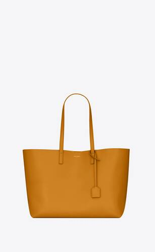 bolso shopper saint laurent east/west de piel flexible