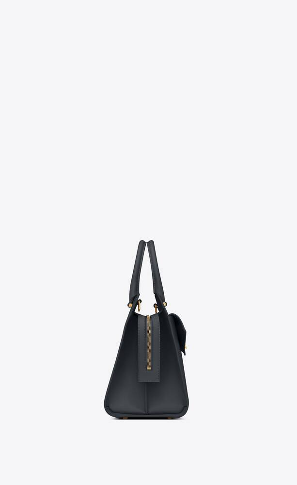 uptown medium tote in shiny smooth leather