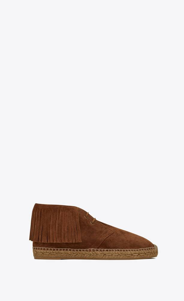 mid-top fringed espadrilles in suede