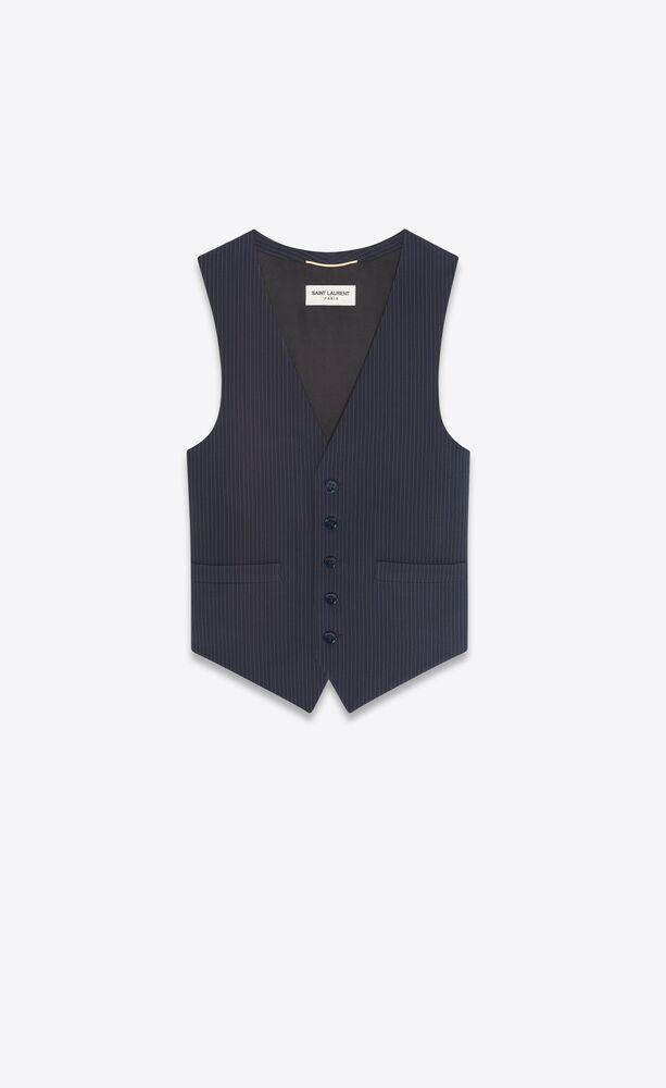 vest in pinstripe wool
