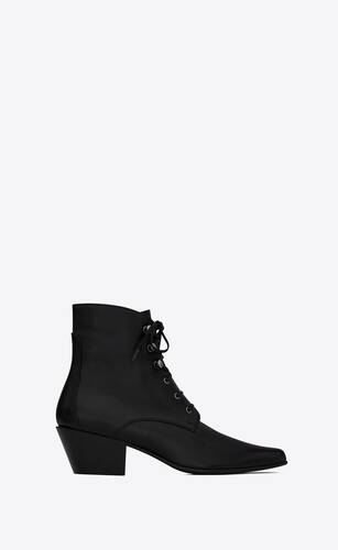 susan booties in grained leather