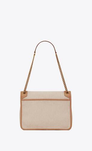 niki medium in cotton canvas and vintage leather