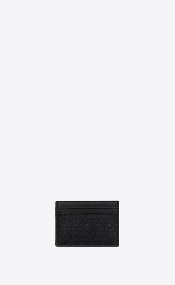 le monogramme all over card holder in embossed smooth leather