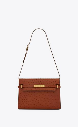 manhattan shoulder bag en autruche