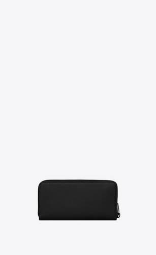 monogram zip-around wallet in grain de poudre embossed leather