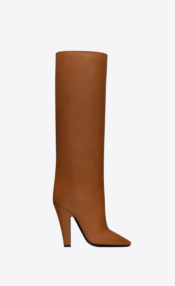 68 tube boots in smooth leather