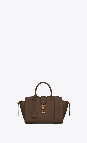 downtown baby shopping bag in grained leather