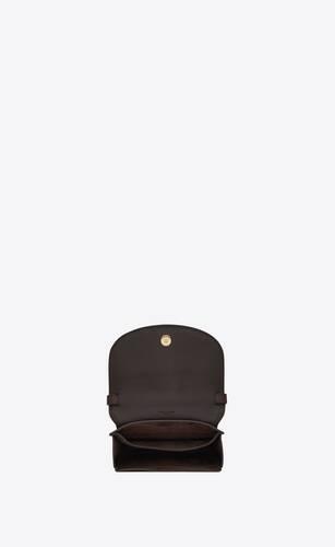 kaia petit satchel en cuir mat et cuir tressé mat