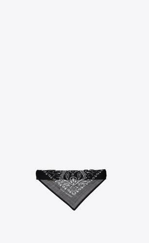 dog bandana collar in smooth leather