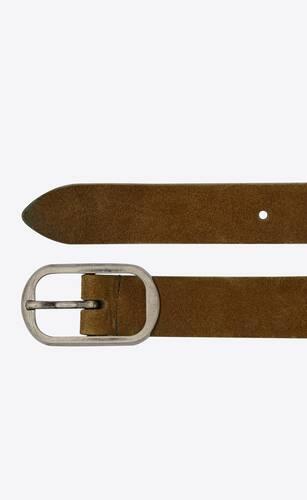 can buckle belt in suede