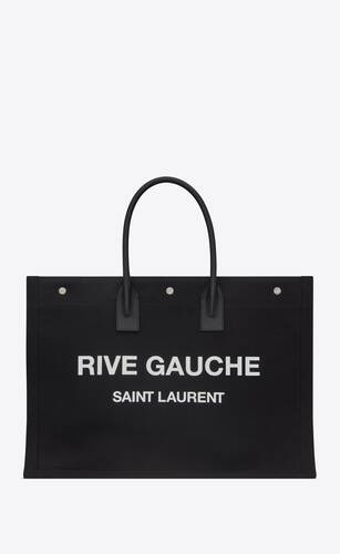 rive gauche totebag aus bias-canvas