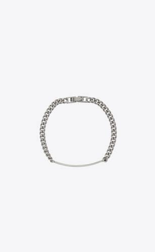 bracelet à plaque saint laurent en métal