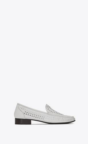 swann loafers in braided leather