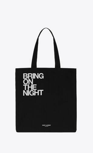 """bring on the night"" totebag"