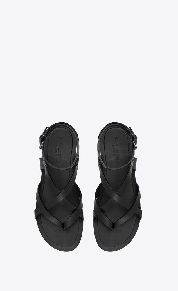 culver flat sandals in smooth leather