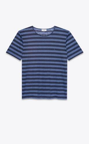 gestreiftes t-shirt aus jersey mit monogramm