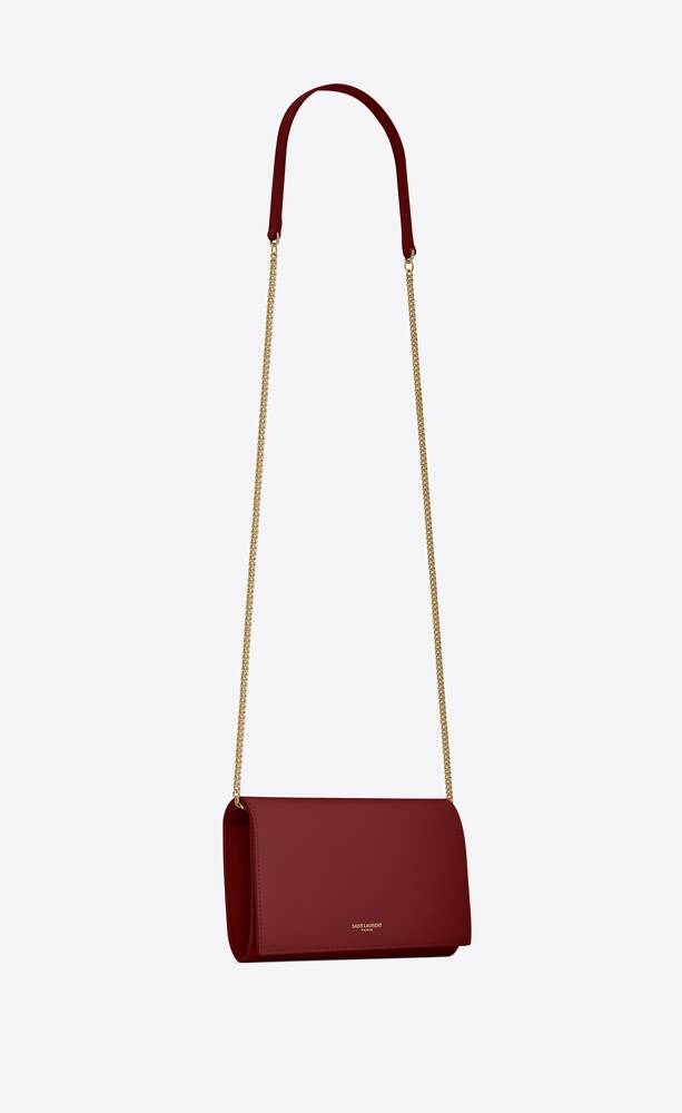 mini sac saint laurent paris en cuir mat