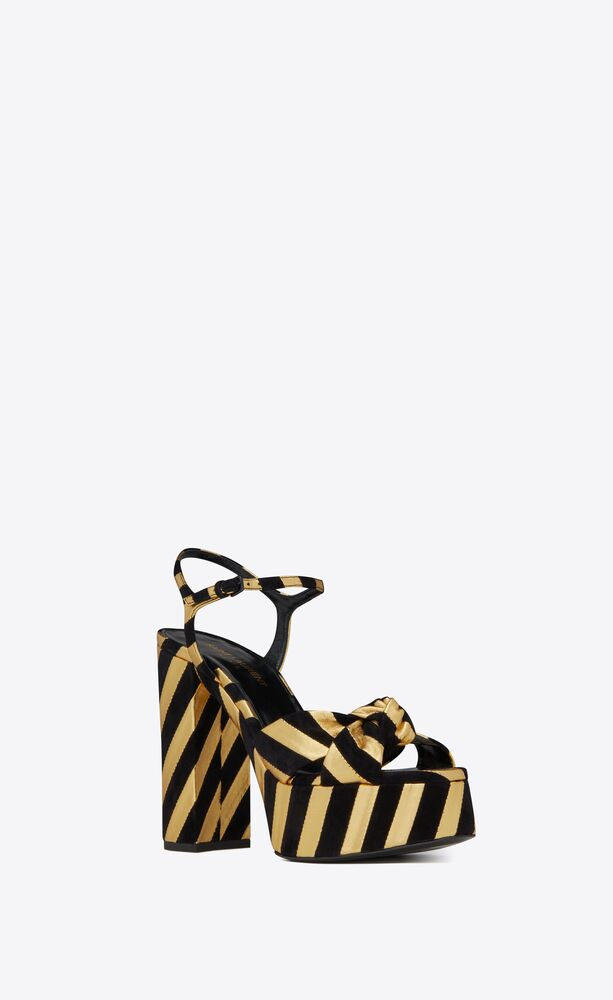 bianca sandals in suede and metallic leather