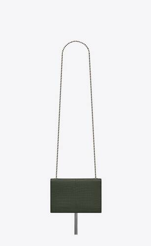 kate small with tassel in embossed crocodile shiny leather