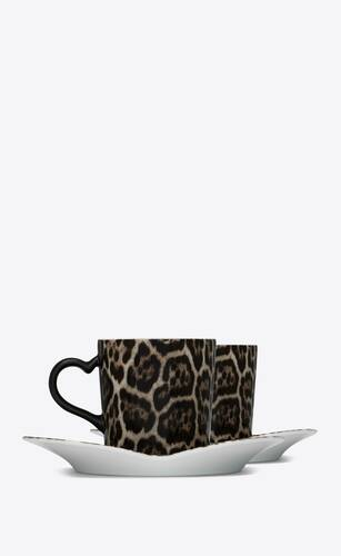 j.l coquet leopard coffee set in porcelain