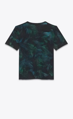 t-shirt logo saint laurent tie-dye