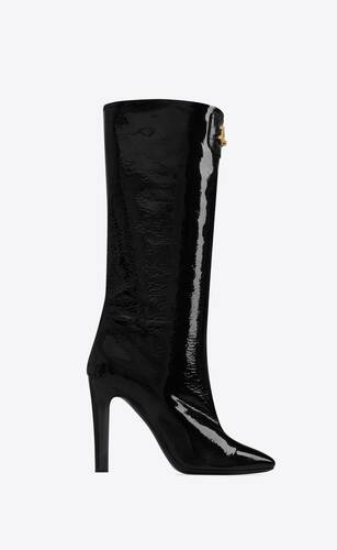 bond boots in patent leather